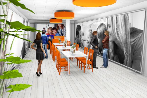 3D concept PopUp winkel Rabo Woonwinkel 3