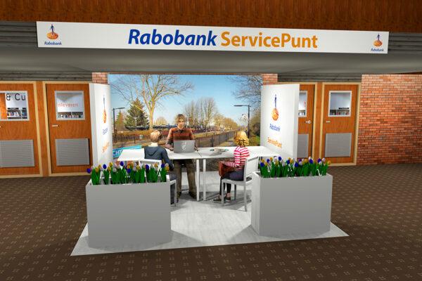 3D ontwerp Rabo Arnhem Servicepunt Bibliotheek Dieren 1