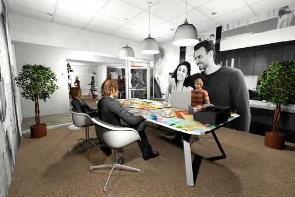 Ontwerp 3D concept Rabo Rijk van Nijmegen Wijchen Woonwinkel 3