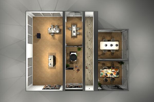 Ontwerp 3D concept Rabo Rijk van Nijmegen Wijchen Woonwinkel 4