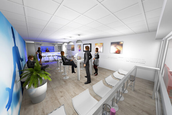 Ontwerp 3D foto 2 HIT Group Skybox Club ruimte PSV stadion