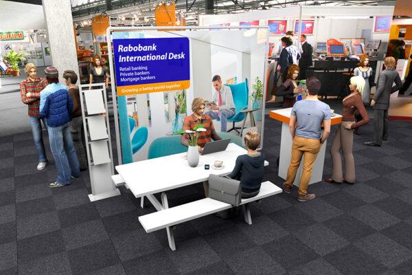 Ontwerp 3D stand Rabo Amsterdam Expat Fair 2