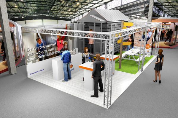 Ontwerp 3D stand Rabo Utrecht Beurs Eigen Huis 2017 zicht 2